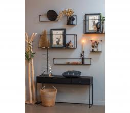 Afbeelding van product: WOOOD Meert wandplank 100 cm metaal zwart