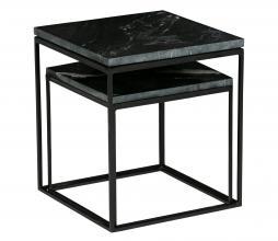 Afbeelding van product: BePureHome Mellow set v. 2 bijzettafels marmer/metaal zwart