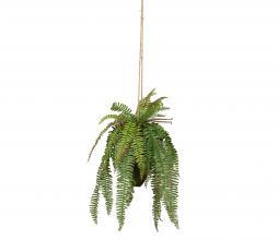 Afbeelding van product: WOOOD Varen hangende kunstplant 58 cm groen