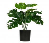 WOOOD Monstera kunstplant 40 cm groen