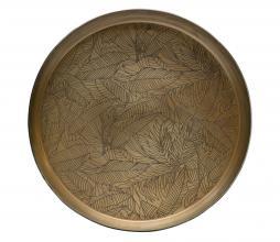 Afbeelding van product: BePureHome Notch dienblad metaal antique brass, div afm Ø 44 cm