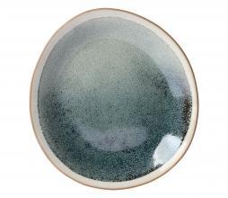 Afbeelding van product: HKLiving Mist bord ø22cm set van 2 keramiek crème/vergrijsd groen