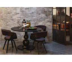 Afbeelding van product: BePureHome Catch eetkamerstoel velvet fineer bruin-zwart
