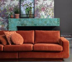 Afbeelding van product: BePureHome Fame 3 zits bank velvet roest