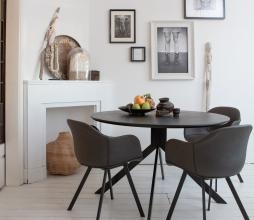 Afbeelding van product: WOOOD Exclusive Bruno eettafel MDF ø120 cm zwart