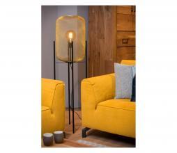 Afbeelding van product: Mesh vloerlamp staal Ø 35 cm goud