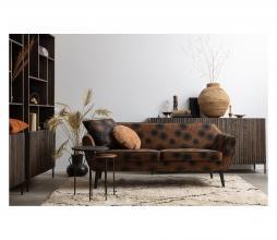 Afbeelding van product: WOOOD Exclusive Rocco Bloom 2,5 zits sofa velvet honinggeel