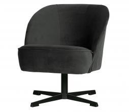 Afbeelding van product: BePureHome Vogue draaifauteuil velvet zwart