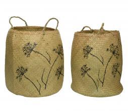 Afbeelding van product: Berenklauw manden set van 2 zeegras naturel