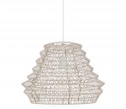 Afbeelding van product: vtwonen Flame hanglamp Ø55 cm leer wit