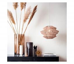 Afbeelding van product: vtwonen Flame hanglamp Ø40 cm leer naturel/wit