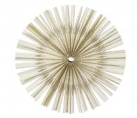 Papero ornament hout wit diverse afmetingen Ø12,5 cm