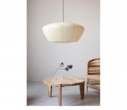 Afbeelding van product: House Doctor Bidar lampenkap hanglamp Ø82cm rijstpapier naturel