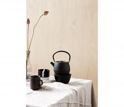 Afbeelding van product: House Doctor Cast theepot Ø12 cm gietijzer zwart