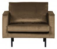BePureHome Rodeo 1,5 zits fauteuil velvet taupe