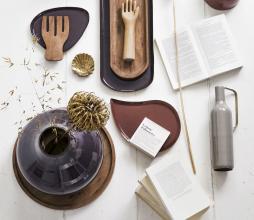 Afbeelding van product: vtwonen metalen dienblad tray h25 cm cinnamon
