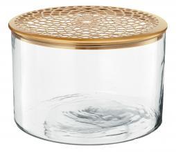 Afbeelding van product: vtwonen vaas met deksel metaal goud div. afmetingen H 13 x ø32 cm