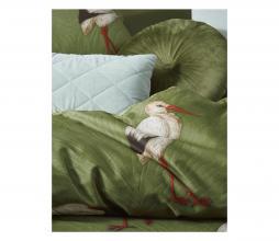 Afbeelding van product: Selected by Stefanie dekbedovertrek 140x220 cm katoen satijn groen