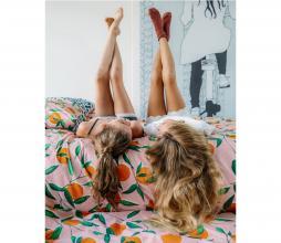 Afbeelding van product: Squeeze the Day dekbedovertrek 140x220 cm katoen roze