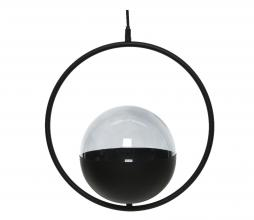 Afbeelding van product: Selected by Ring hanglamp glas H108 cm zwart-smokey grijs