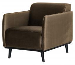 Afbeelding van product: BePureHome Statement fauteuil met arm velvet taupe