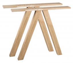 Afbeelding van product: WOOOD Tablo 3-standen tafelpoot vierkant eiken, set van 2 onbehandeld
