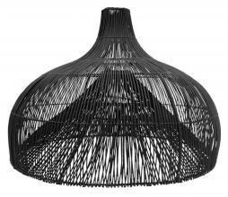Afbeelding van product: Lampenkap Maggie rotan zwart, div afmetingen XL: Ø85 cm