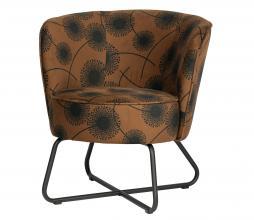 Afbeelding van product: WOOOD Exclusive Bloom fauteuil velvet honinggeel