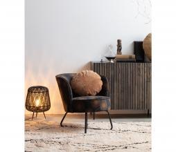 Afbeelding van product: WOOOD Exclusive Bloom fauteuil velvet zwart