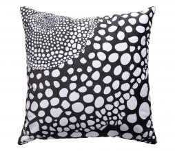 Afbeelding van product: WOOOD Koda kussen 50x50 cm velvet zwart/wit