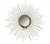 BePureHome Sunny spiegel met waxinehouder metaal ø45cm antique brass