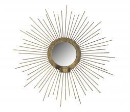 Afbeelding van product: BePureHome Sunny spiegel met waxinehouder metaal ø45cm antique brass