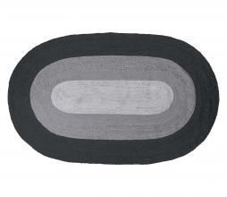 Afbeelding van product: BePureHome Border vloerkleed ovaal jute 170x300 cm zwart-grijs