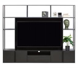 Afbeelding van product: WOOOD Toby tv wandmeubel metaal/mdf zwart