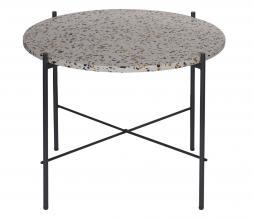 Afbeelding van product: WOOOD Vayen bijzettafel 49x63x63cm terrazzo grijs