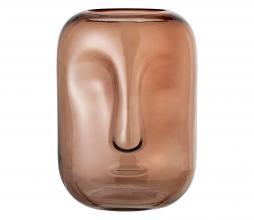 Afbeelding van product: Selected by vaas glas Ø18xH25 cm bruin