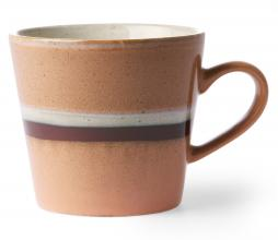 Afbeelding van product: HKliving Stream cappuccino mok aardewerk perzik/bruin/wit