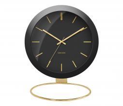 Afbeelding van product: Selected by Globe tafelklok metaal zwart/goud