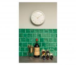 Afbeelding van product: Selected by Globe wandklok metaal wit
