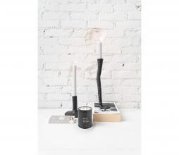 Afbeelding van product: Zusss Zwanenpoot kandelaar h30cm metaal zwart