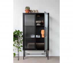 Afbeelding van product: WOOOD Zion vitrinekast 150x85x38 cm staal zwart