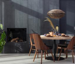 Afbeelding van product: WOOOD Tablo ronde tafelpoot metaal zwart