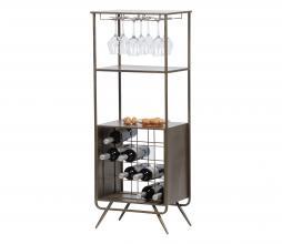 Afbeelding van product: WOOOD Vadim wijnkast metaal antique grey