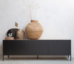 Afbeelding van product: WOOOD Exclusive Gravure tv meubel eiken/grenen naturel/zwart