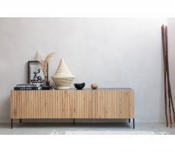 Afbeelding van product: WOOOD Exclusive Gravure tv meubel grenen/eiken zwart/naturel