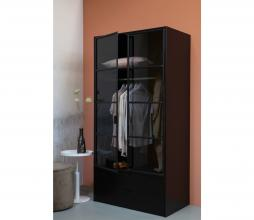 Afbeelding van product: WOOOD Sivan garderobekast grenen metaal zwart