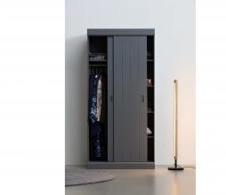 Afbeelding van product: WOOOD Hit schuifdeurkast 205x98x60 cm grenen staalgrijs