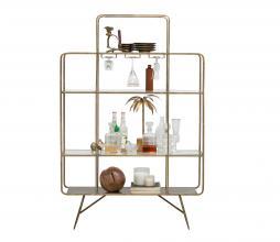 Afbeelding van product: BePureHome Cheers wijnkast metaal antique brass
