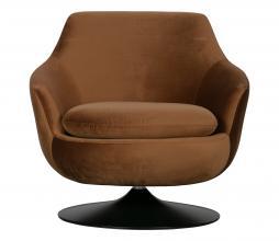 Afbeelding van product: WOOOD Exclusive Jada draaifauteuil velvet bruin