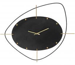 Afbeelding van product: BePureHome Two o'clock wandklok metaal zwart